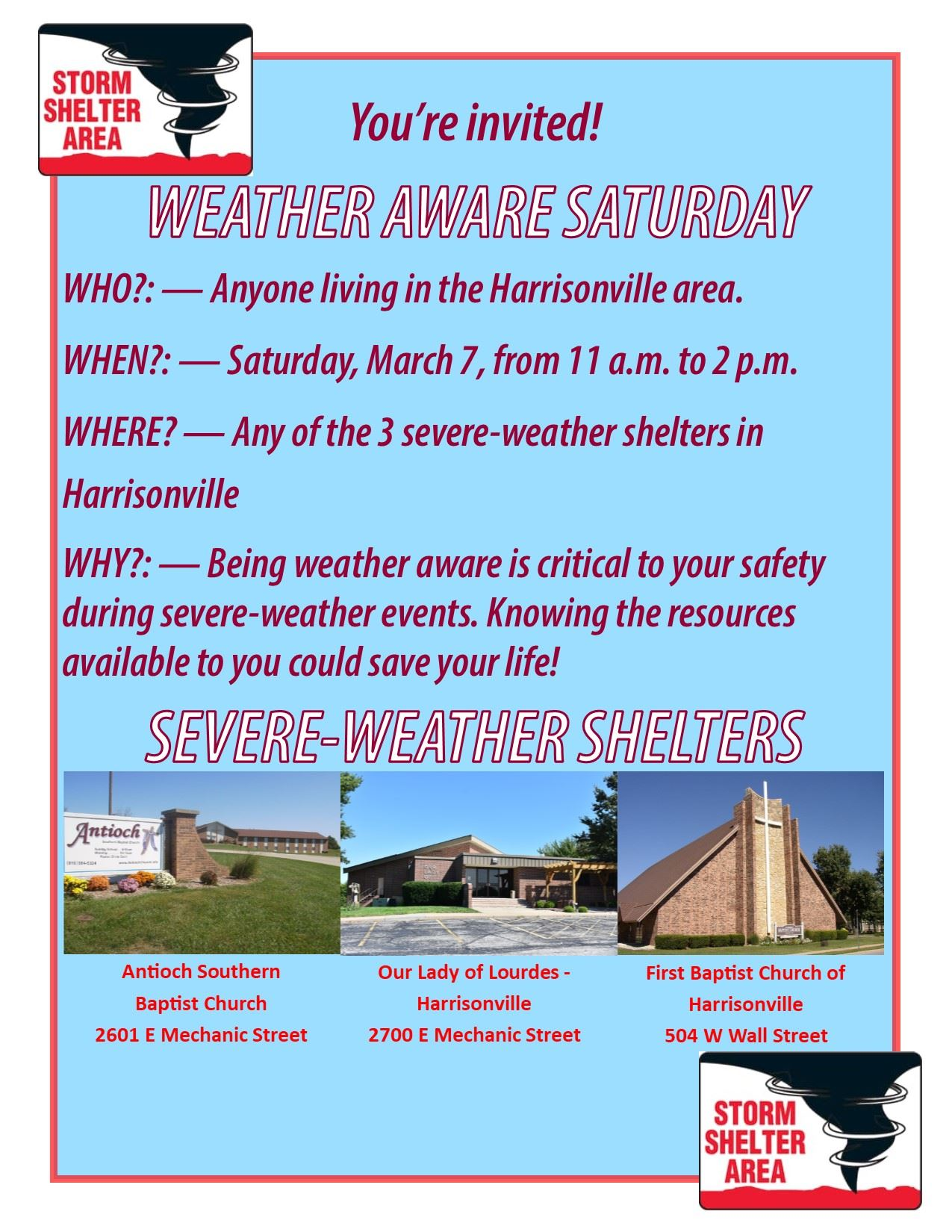 Weather Aware flyer