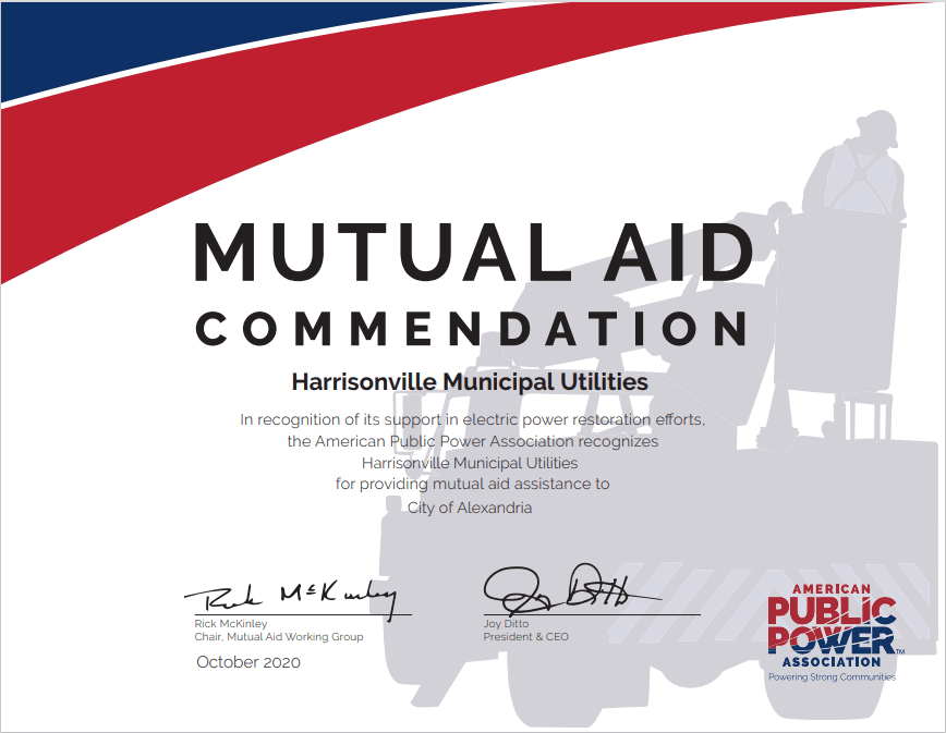 Mutual Aid Commendation Alexandria